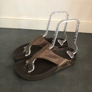 FITFLOP  Bronze Brown Sandals Sequin Glitz Sandals